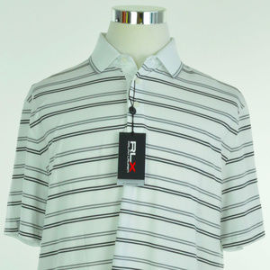 RLX GOLF Ralph Lauren Mens Polo Shirt L White Grey